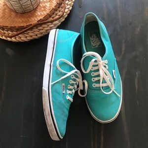 Vans turquoise ERA lace up sneakers women's size 9